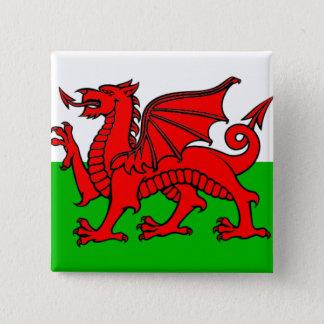 Wales flag 15 cm square badge