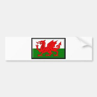 Wales Flag Car Bumper Sticker