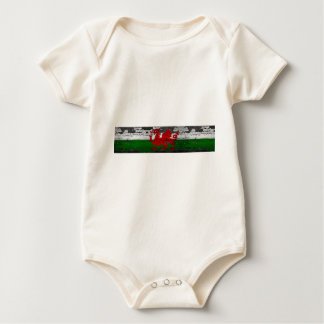Wales Flag Distressed Baby Bodysuit