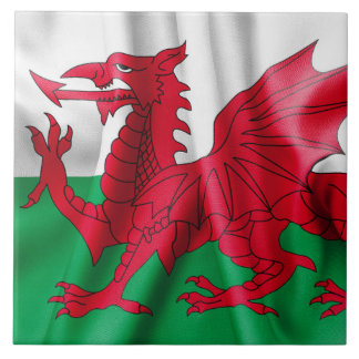 Wales Flag Large Square Tile