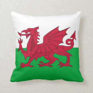 Wales Flag on American MoJo Pillow Throw Cushions