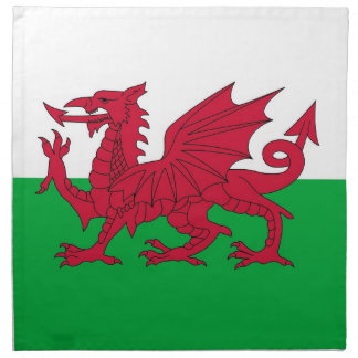 Wales Flag on MoJo Napkin