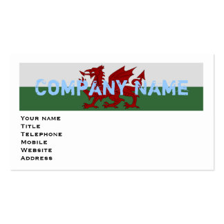 Wales Flag Pack Of Standard Business Cards