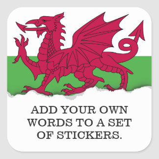 Wales Flag Square Sticker