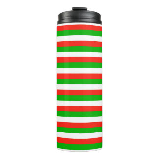 wales flag stripes lines pattern thermal tumbler