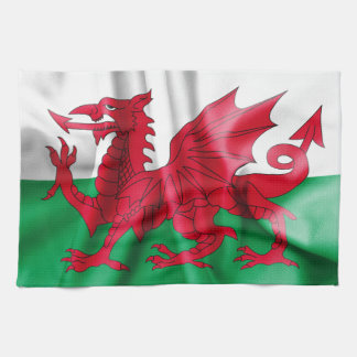 Wales Flag Tea Towel