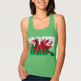 Wales Flag Women's Slim Fit Racerback Tank Top
