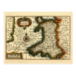 Wales - Historic 17th Century Map of Wales