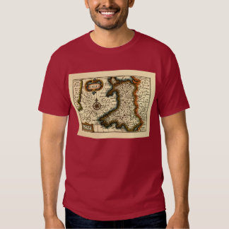 Wales - Historic 17th Century Map of Wales Tshirt