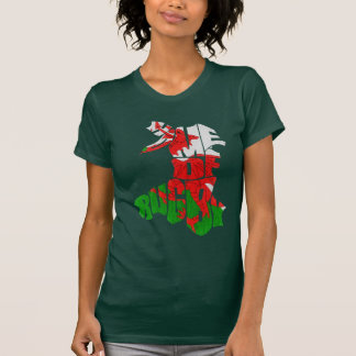 Wales Home of Rugby Map T-Shirt