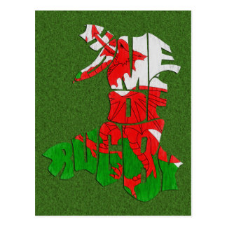 Wales Home of Rugby Postcard