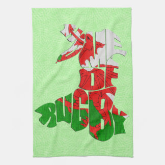 Wales Home of Rugby Tea Towel