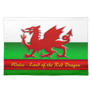 Wales - Home of the Red Dragon, metallic-effect Placemat