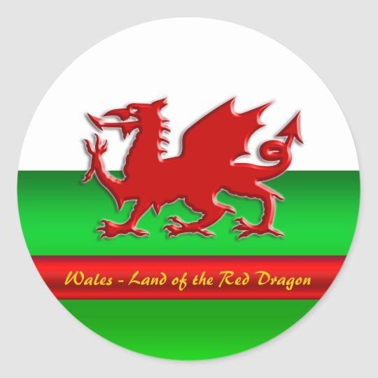 Wales - Home of the Red Dragon, metallic-effect