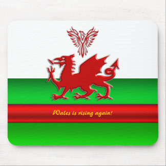 Wales is rising again - dragon and phoenix mouse mat