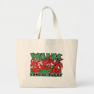 Wales Land of Rugby Tote Bags