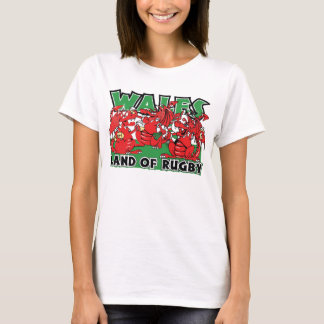 Wales Land of Rugby Welsh Design T-Shirt