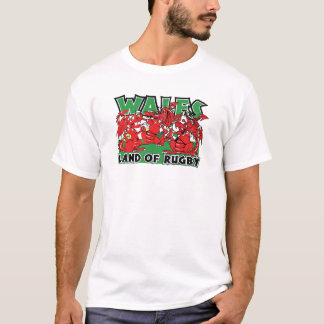 Wales Land of Rugby, Welsh Dragons T-Shirt