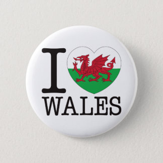 Wales Love v2 6 Cm Round Badge