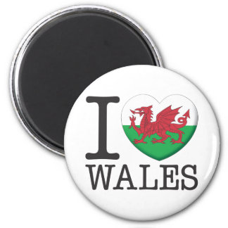 Wales 6 Cm Round Magnet
