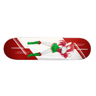 Wales Manga girl dressed in Flag - Welsh Skate Decks