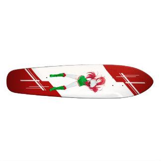 Wales Manga girl dressed in Flag - Welsh Skate Board Decks