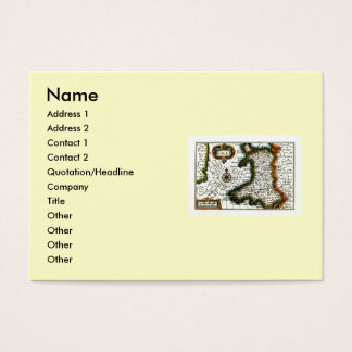 Wales Map and/or Flag Business Card