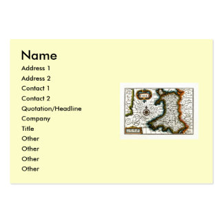 Wales Map and or Flag Business Card Templates