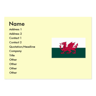 Wales Map and or Flag Business Card Template