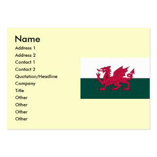 Wales Map and/or Flag Pack Of Chubby Business Cards