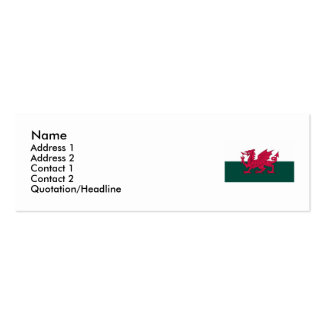 Wales Map and/or Flag Pack Of Skinny Business Cards