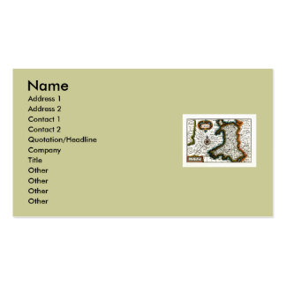 Wales Map and/or Flag Pack Of Standard Business Cards