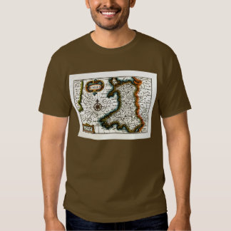 Wales Map and/or Flag T Shirt