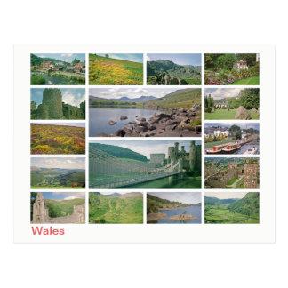 Wales multi-image postcard