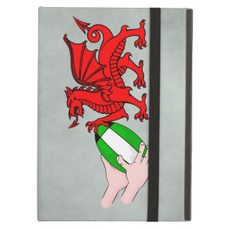 Wales Rugby Team  Dragon With Rugby Ball iPad Air Cover