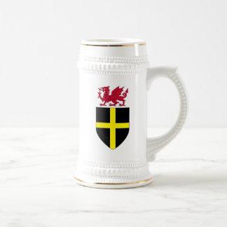 Wales Stein - Dragon over St. David Shield