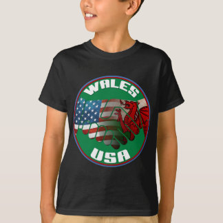 Wales USA Welsh American Kids' T-Shirt