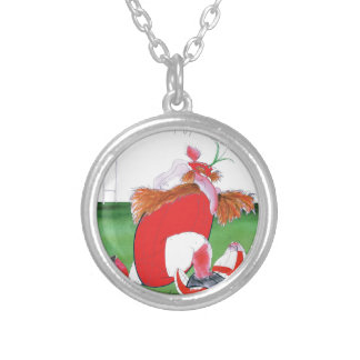wales v england balls - from tony fernandes silver plated necklace