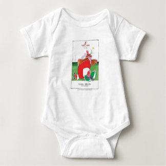 wales v ireland rugby balls by tony fernandes baby bodysuit