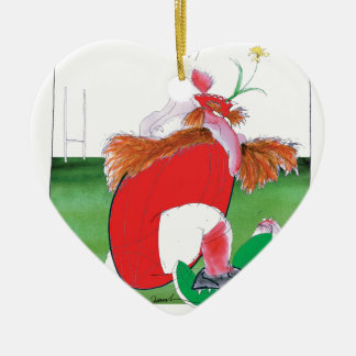 wales v ireland rugby balls by tony fernandes christmas ornament