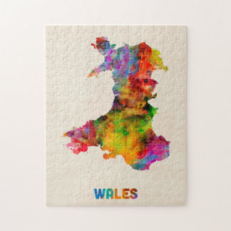 Wales Watercolor Map Jigsaw Puzzle
