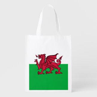 Wales Welsh Dragon Flag Reusable Grocery Bag