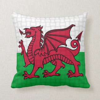 Wales Welsh flag cymru dragon Cushion