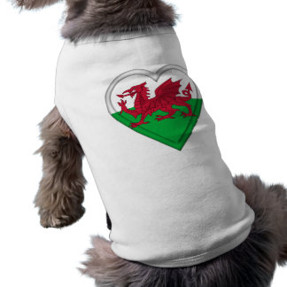 Wales Welsh flag cymru dragon Sleeveless Dog Shirt