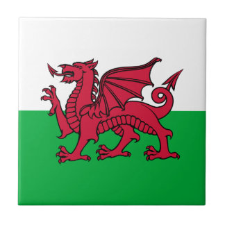 Wales -Welsh Flag Small Square Tile