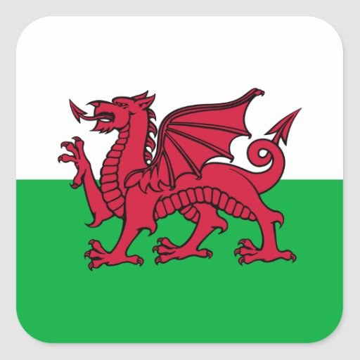 Wales -Welsh Flag Stickers