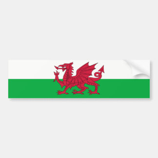 Wales/Welsh Flag - United Kingdom Bumper Sticker