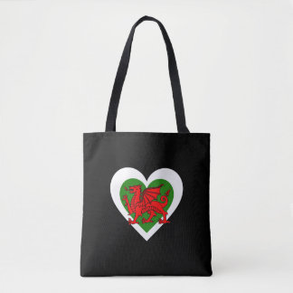 Wales/Welsh Heart flag-inspired Tote Bag