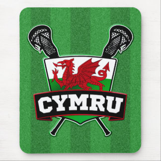Wales Welsh Lacrosse Logo Mouse Pad