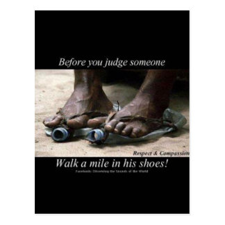 Walk a Mile in Their Shoes Post Card